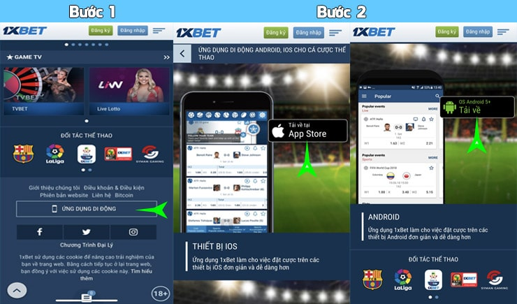 Ứng dụng 1xbet mobile 1